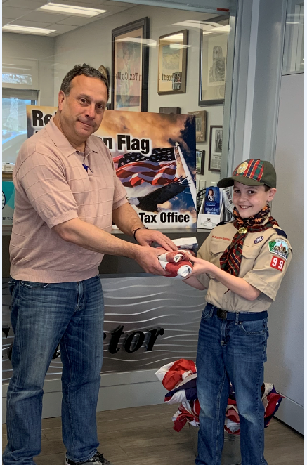 Vince,  I wanted to take this opportunity to say thank you for the kindness you extended to me and my grandson, Jack McInerney, the other day when we brought in our flags for retirement. I really appreciate you taking the time to make a fuss over Jack. He suggested he come to my home and replace the tattered flag on my flag pole with a new flag and take care of disposing properly of the old flag. In these current times, it is refreshing that a young person has such great respect for our country and our flag. I'm quite proud of Jack and it is nice that his efforts were recognized by you and your staff.  Thank you, again,  Dianne